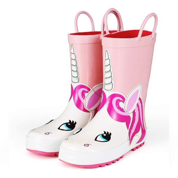 Pink Unicorn Rain Boot