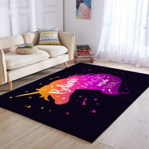 Pink Unicorn Area Rug 3×5, 4×6, 5×8