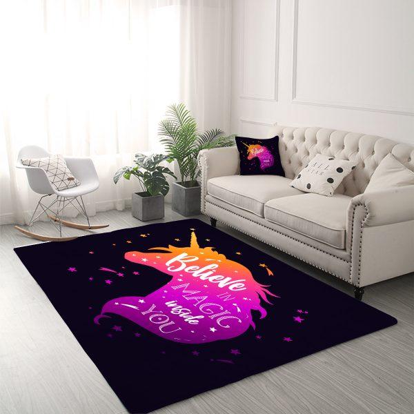 Magical Unicorn Area Rug For Living Room