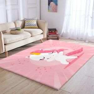 Pink Unicorn Area Rug 3×5, 4×6, 5×8