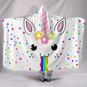 Cute Unicorn Lash Hooded Blanket