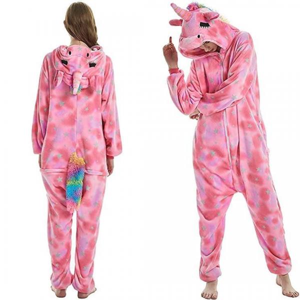 Pink Star Unicorn Costume Onesie For Women