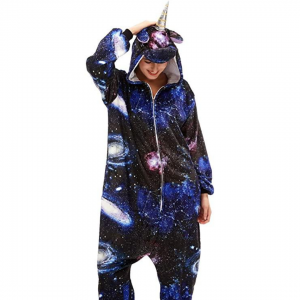 Galaxy Unicorn Costume Onesie For Women