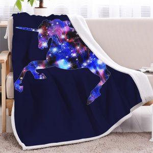 Bling Galaxy Unicorn Sherpa Fleece Blanket