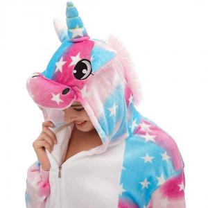 Pink Blue Unicorn Costume Onesie For Women