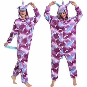 Purple Star Unicorn Costume Onesie For Women
