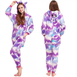 Purple Unicorn Onesie Costume For Girls
