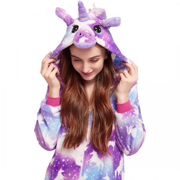 Purple Unicorn Onesie Costume For Girls
