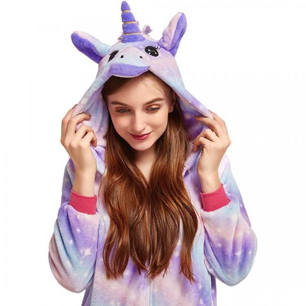 Purple Star Unicorn Onesie Costume Pyjamas