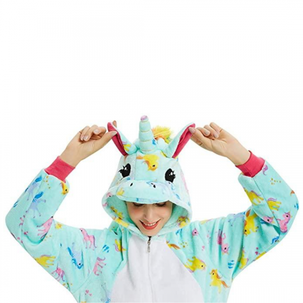 Green Unicorn Costume Onesie For Women