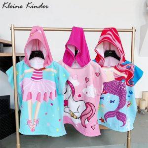 Unicorn Cartoon Hooded Bathrobe