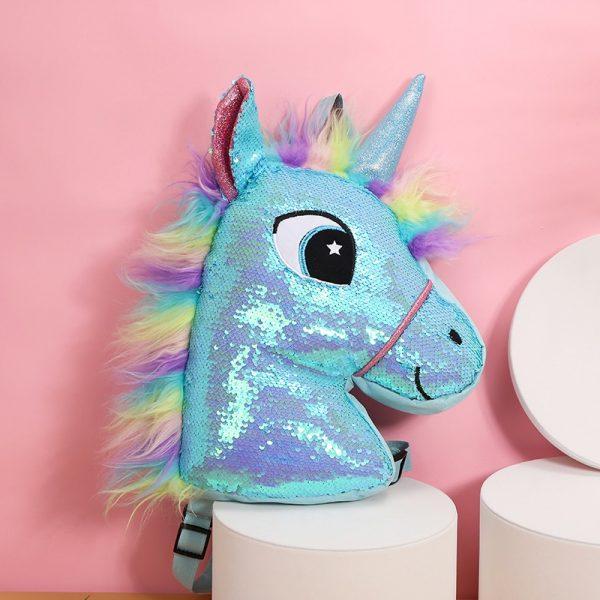Reversible Sequin Unicorn Kawaii Backpack