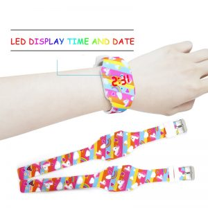 Unicorn Luminous LED Rubber Watch For Kids