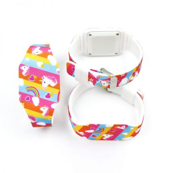Unicorn Luminous LED Rubber Watch For Kids