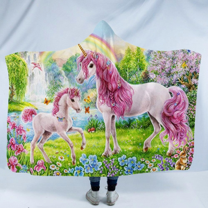 Fairytale Unicorn Hooded Blanket