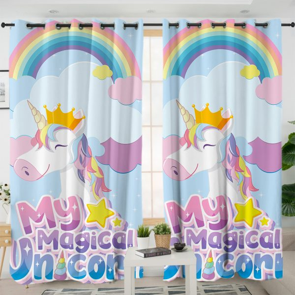 Magical Unicorn Curtains For Girl