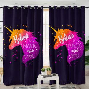Majestic Purple Unicorn Curtains