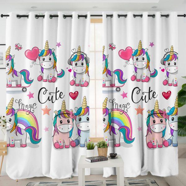 Magic Unicorn Themed Curtains
