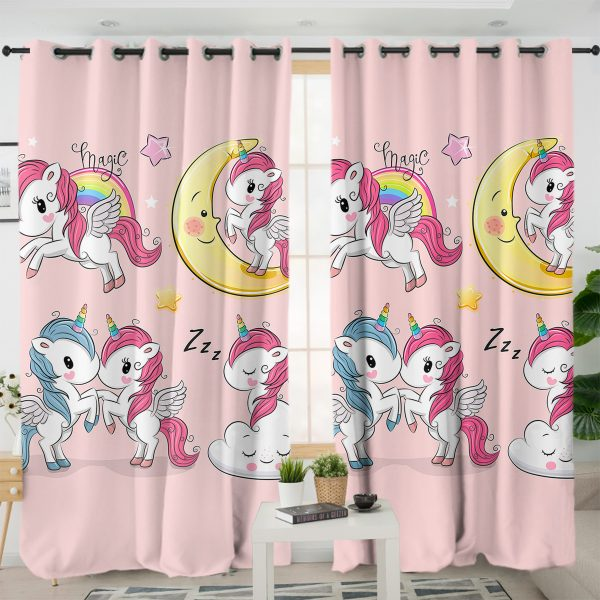 Four Cute Unicorn Curtains