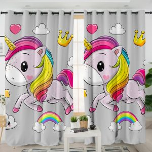 Kid Unicorn Themed Curtains