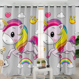 Kid Unicorn Themed Curtains