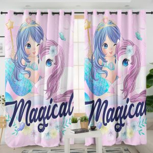 Unicorn And Mermaid Curtains