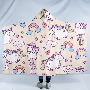 Chubby Unicorn Hooded Blanket