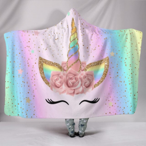 Magical Unicorn Lash Hooded Blanket