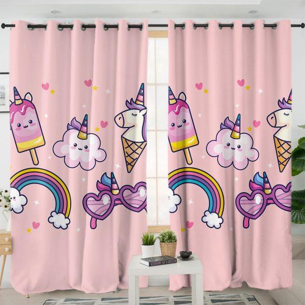 Ice Cream Unicorn Curtains
