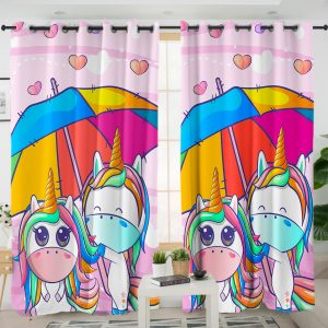 Friends Unicorn Curtains