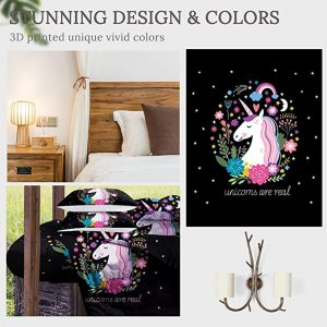 4 Pieces Unicorn Are Real Comforter Set