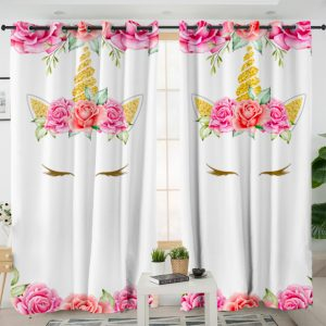 Flowers Unicorn Lash Curtains