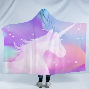 Pastel Galaxy Unicorn Hooded Blanket