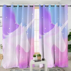 Pastel Galaxy Unicorn Curtains