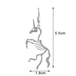Punk Unicorn Skeleton Earrings