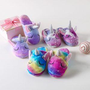Unicorn Holographic Rainbow Soft Slippers