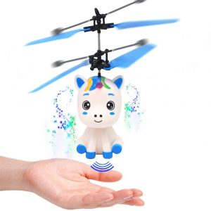 Controllable Flying Unicorn Toy with LED Light