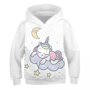 Fashionable Unicorn Pullover Hoodie