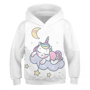 Fashionable Unicorn Pullover Hoodie