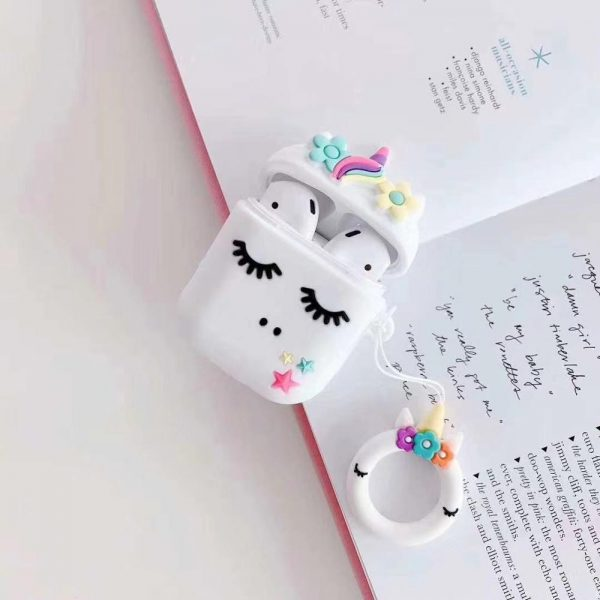 Colorful Floral Unicorn Airpods Case