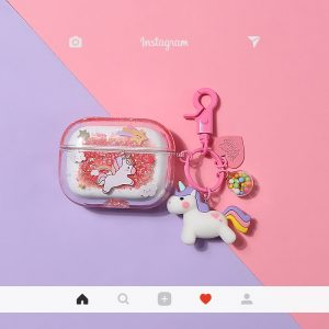 Bling Bling Liquid Unicorn Airpods Case