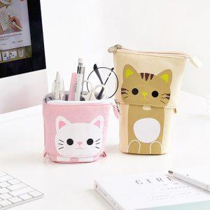 Cute Zipper Unicorn Pencil Holder