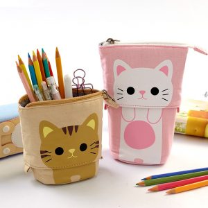 Cute Zipper Unicorn Pencil Holder