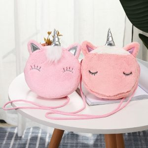 Unicorn Mini Fluffy Shoulder Bag