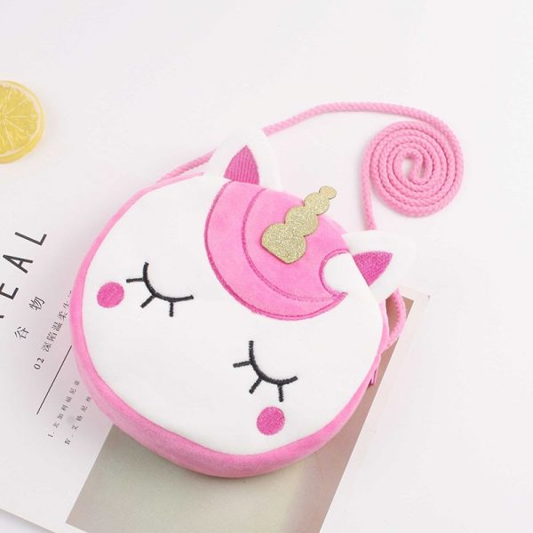 Unicorn Mini Fluffy Shoulder Bag