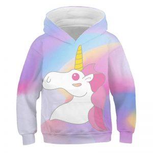 Cute Rainbow Unicorn Hoodie