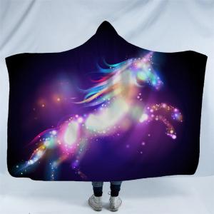 Purple Galaxy Unicorn Hooded Blanket