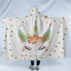 Magical Star Unicorn Hooded Blanket