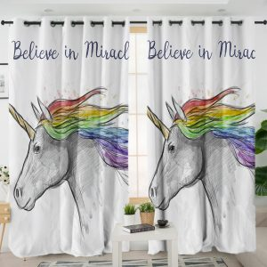 Miracle Unicorn Themed Curtains