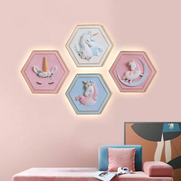 – Unicorn Bedside Wall Lamp
